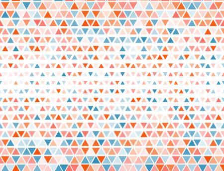 Border triangles halftone pattern. Triangular fade elements banner background. Pixel