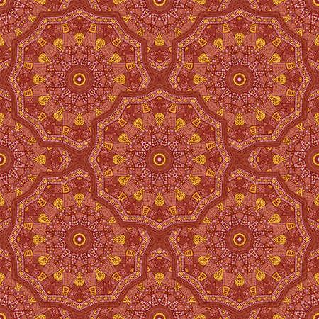 Round medallion vector seamless pattern.