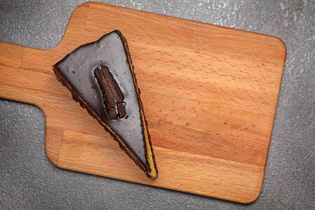 chocolate cake close up