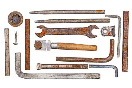 vintage set tool isolated on white background
