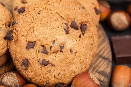 hazelnut and chocolate cookie
