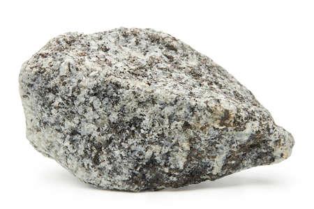 Large rock stone isolated on a white background. Standard-Bild