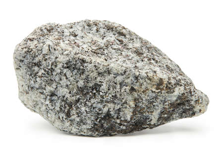 Large rock stone isolated on a white background. Stockfoto