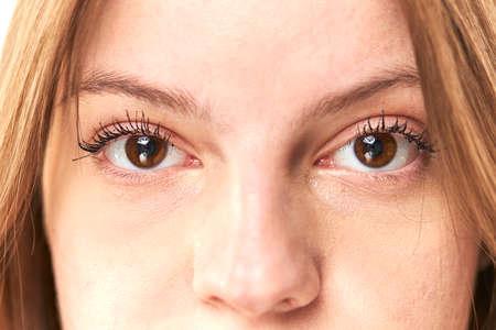 Close up of natural female eye