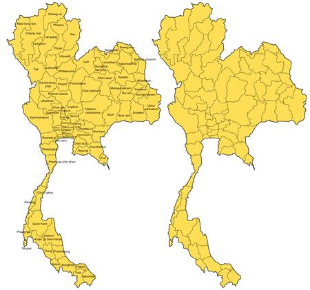 Thailand Map Vector Stock Vector - 27524314