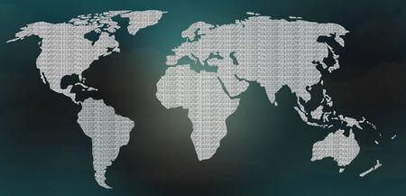 digital world: world map digital background
