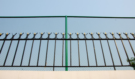 incarceration: wirework guard concept show need freedom from jail and sky background