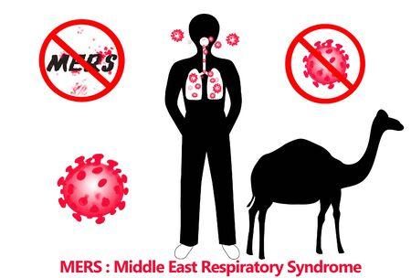 coronavirus: mers middle east respiratory syndrome - corona virus