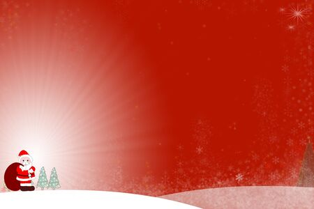 Cute Santa Claus with red hat and suit ready to send gifts to children around the world Stock Photo