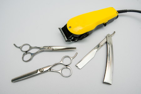 clippers, hair clippers, hair scissors, haircut accessories Stock Photo