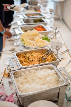 buffet, food bar, self service restaurant