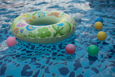 Life ring in swimming pool
