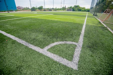 Football field or soccer field Stockfoto