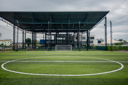 Football field or soccer field Stock Photo