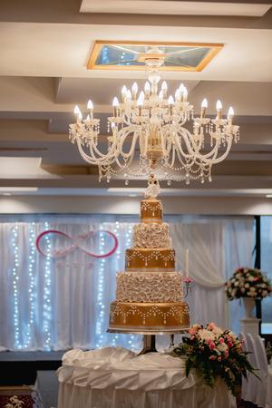 Beautiful Wedding Cake in wedding day, wedding reception