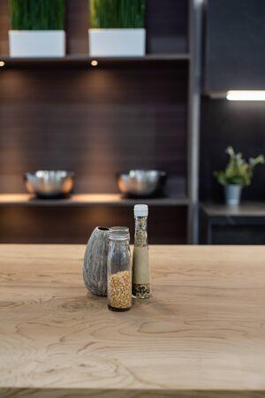 bar and kitchen interior design
