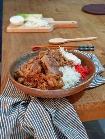 GYUDON Japanese beef & Rice, Japanese food