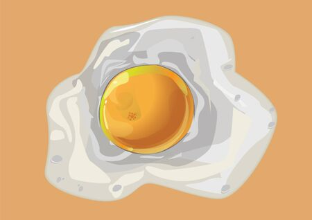fried egg in background vector