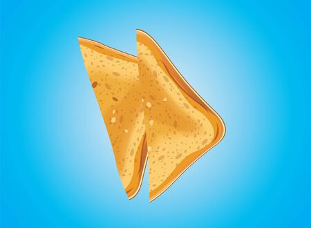 Bread toast of roasted in background vector