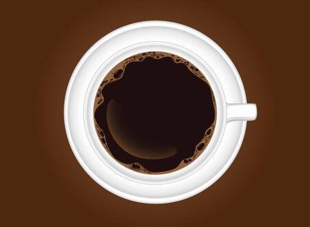 hot coffee in background vector 일러스트