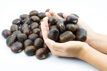 delectable: Chestnuts roasted, a delectable munch after a meal for health
