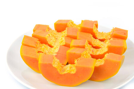 deliciously: Papaya are deliciously sweet with musky undertones Stock Photo