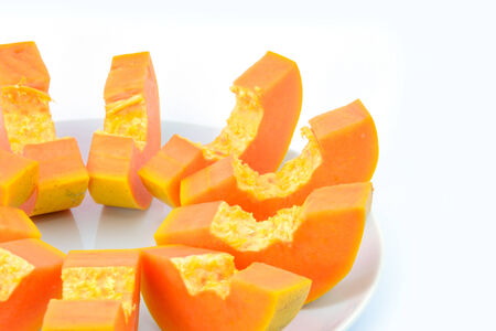 deliciously: Papaya are deliciously sweet and juicy