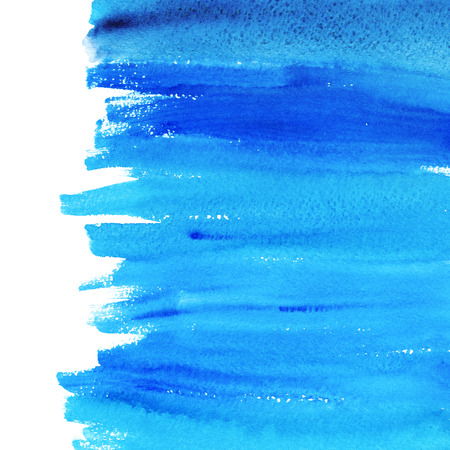 Blue watercolor texture hand paint on white background. Abstract art for design.