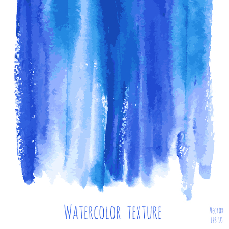 drops of water: Vector turquoise blue, indigo watercolor texture background with dry brush stains, strokes and spots isolated on white. Illustration