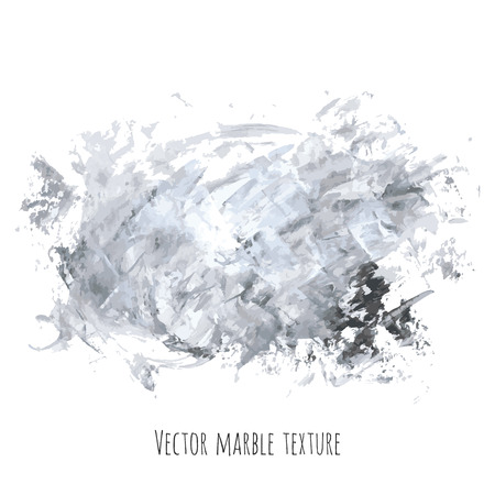 White, gray, black vector scribble marble watercolor texture background. Abstract acrylic smudge backdrop with stains, dry brush strokes, spots and ink waves. Natural stone wall for interior design. Vectores