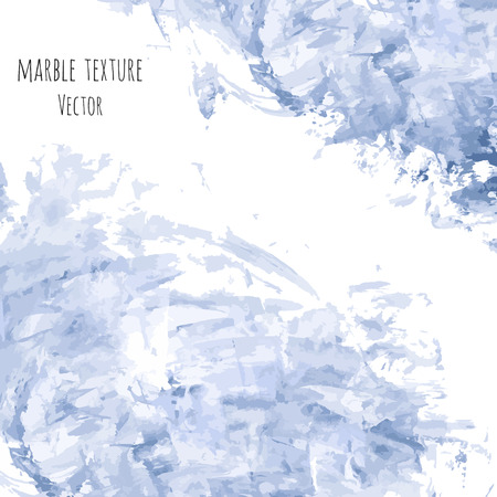 White, gray, navy blue marble watercolor vector texture background. Abstract acrylic smudge backdrop with scribble, stains, dry brush strokes, spots, ink waves. Natural stone wall for interior design.