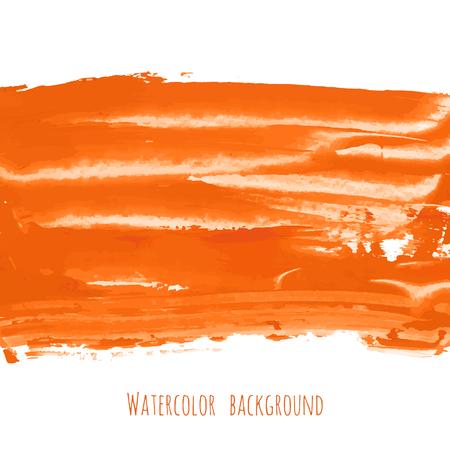 Textura de fondo pintado a mano de mármol naranja, amarillo, rojo, dorado. Telón de fondo abstracto al óleo sobre lienzo con salpicaduras de pincel seco, trazos, manchas, manchas, borrones. Plantilla de diseño de tarjeta de vector de tinta acrílica grunge.