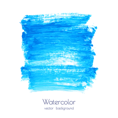 Vettore blu turchese, sfondo texture acquerello marina, macchie di pennello asciutto, tratti, macchie isolate su bianco. Cornice astratta in marmo, posto per testo o logo. Colate acriliche dipinte a mano, fluid art.