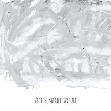 White, gray, black vector marble watercolor texture background. Abstract acrylic backdrop with stains, strokes, spots and ink waves. Natural stone wall for interior design.