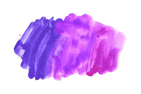 Ultra violet, purple, lilac grunge marble watercolor dry brush strokes texture hand paint on white background. Abstract acrylic pours, fluid art with stains, splashes. Oil frame, place for text, logo.