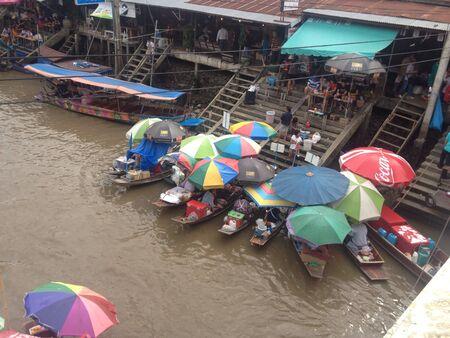 march� flottant: Le march� flottant awatthawa Tha�lande