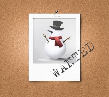 cork board: Most wanted snowman