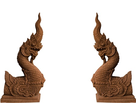 naga china: Naga statue Stock Photo