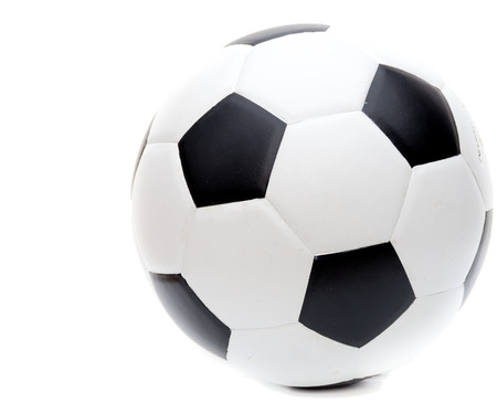 soccer ball isolated on white backgroungs Imagens