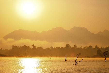 sunrise in thailand photo