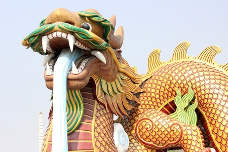 dragon at suphanburi temple photo