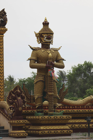 Guardian at the temple what phra kaew photo