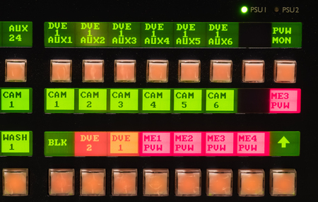 switcher: Video mixer,switcher TV station close up button