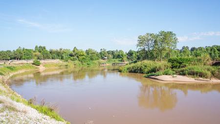 Nan River at Phitsanulok province, Thailand