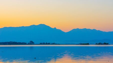 garish: sunset at Phayao lake, Thailand