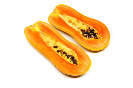 cutaneous: papaya fruits on white background