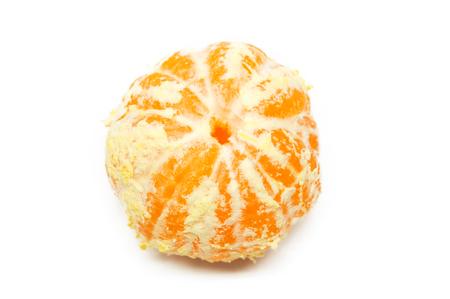 orange peel skin: Orange posed on a against white background