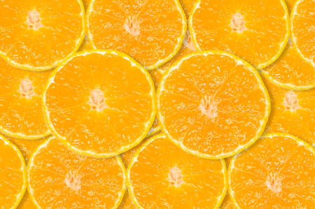 color pattern: Slice of fresh orange background Stock Photo