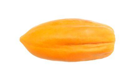 cutaneous: ripe papaya isolated on a white background. Stock Photo