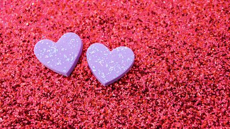 heart on a red glitter abstracts for a background.